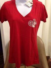 NC State Wolfpack Jr Ladies Football Miss Boyfriend Pressbox T-shirt MEDIUM NEW