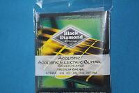 Black Diamond Silverplated Acoustic/acoustic Electric Medium Strings, N754m