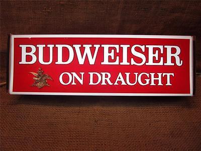 Vintage Budweiser Beer Lighted Sign > Antique Old Brewery Bud Light Cave 8717