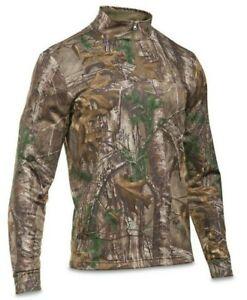 RealTree Camo Under Armour Men/'s UA Caliber Hunting ¼ Zip Pullover M /& L