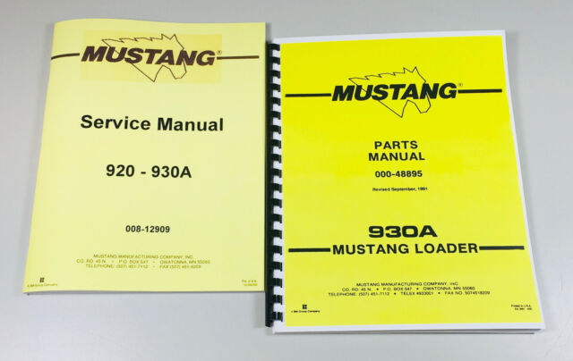 MUSTANG 930A SKID STEER LOADER SERVICE REPAIR MANUAL PARTS CATALOG SHOP SET