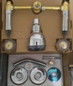 Glacier Bay 2 Handle Shower Faucet.Details About Glacier Bay Aragon 2 Handle 1 Spray Tub And Shower Faucet Chrome 937 207