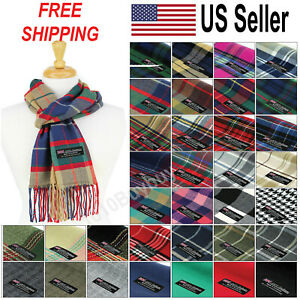 Men-And-Women-Scarf-Plaid-100-Cashmere-Made-Scotland-Classic-Scarf-for-Winter