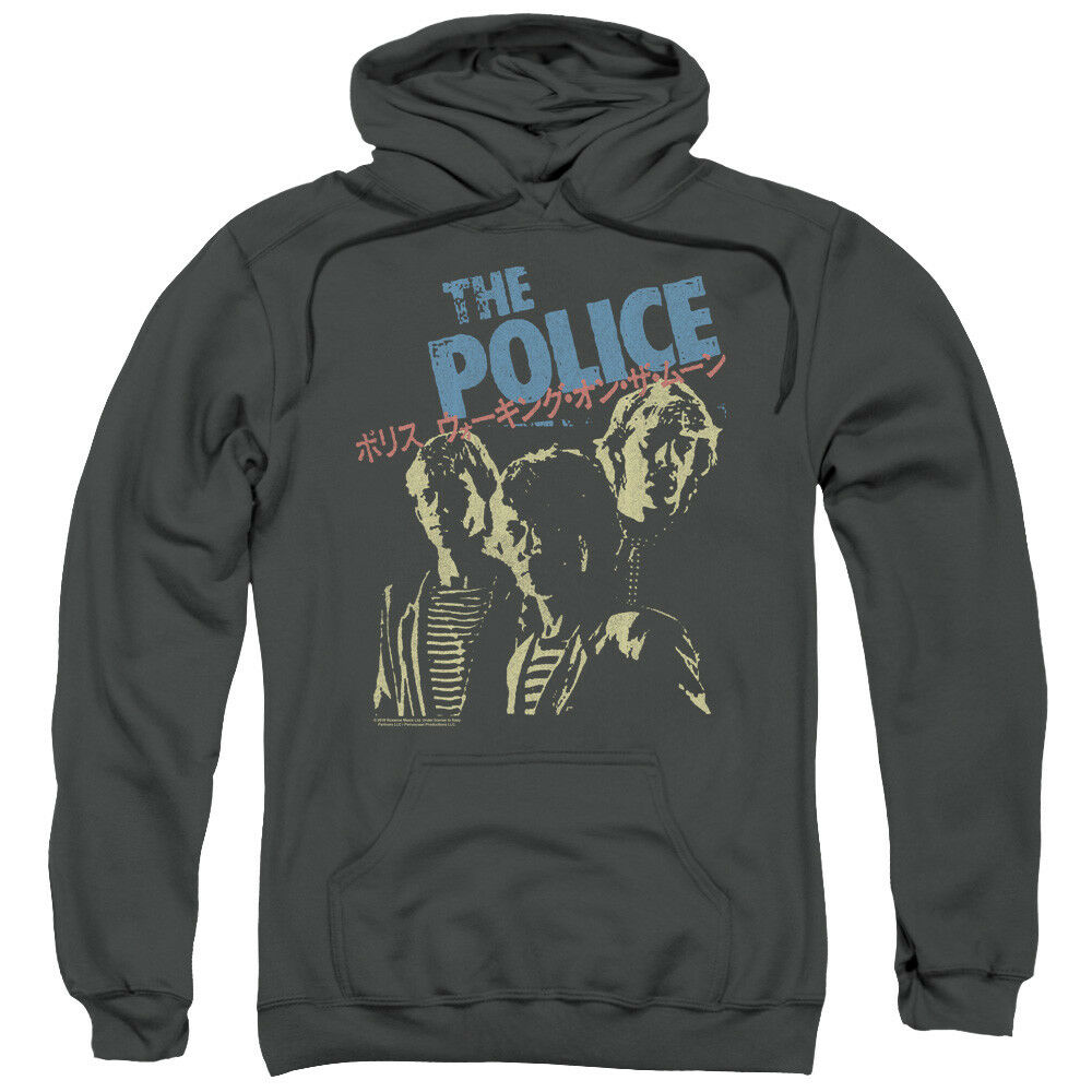Authentic The Police Japanese Poster Vintage Distress Pullover Hoodie Sweatshirt