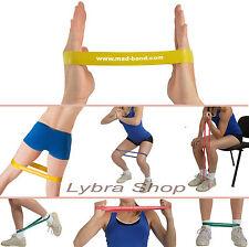 Msd BAND LOOP GIALLO - LEGGERO elastico CHIUSO fascia Pilates Yoga Fitness
