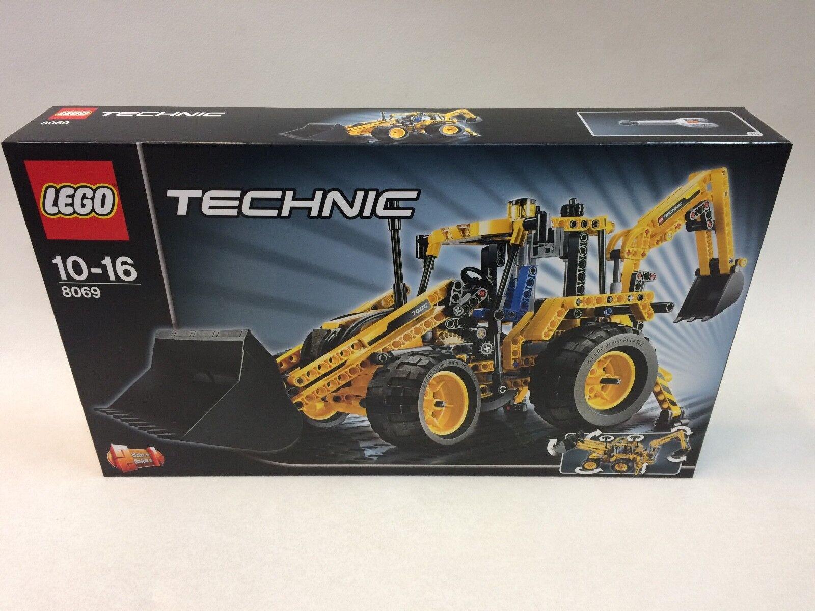 Primera edición como nuevo Lego 8069 Technic Retroexcavadora gestor de registro de Cargador Frontal