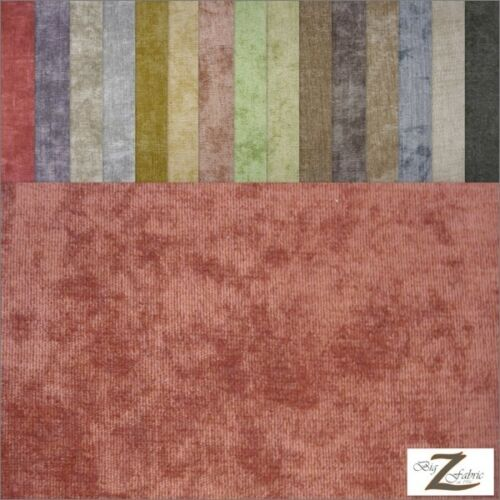 "SOLID CORDUROY FABRIC 60/"" WIDTH SOLD BY THE YARD UPHOLSTERY 17 Colors"