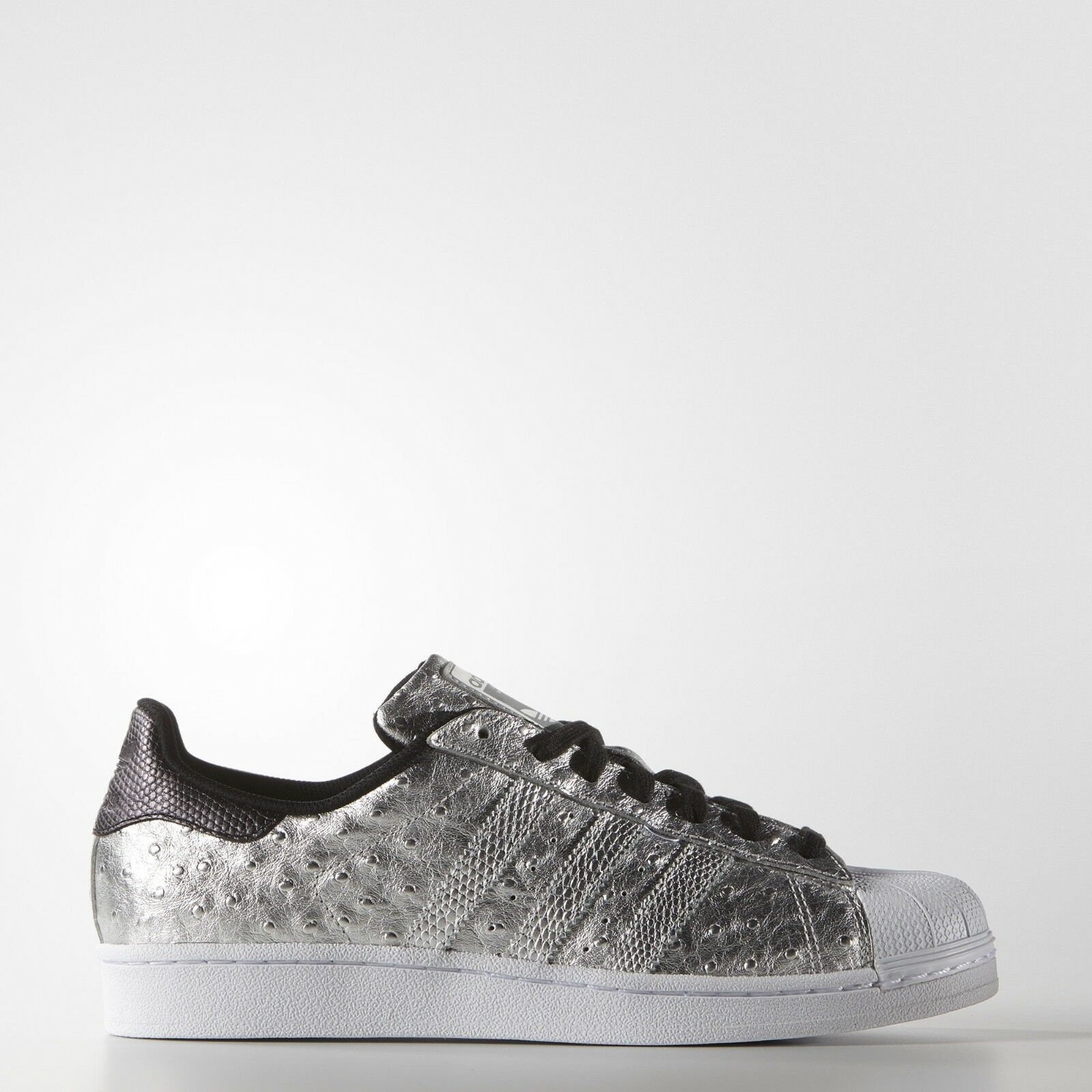 NEW Men's Adidas Superstar Shoes Color: Silver Size: 9