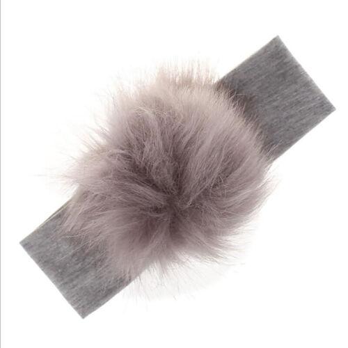 Cute Baby Kids Fur Ball Headband Thicken Hairband Winter Headband Accessories YU