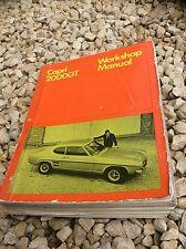 FORD CAPRI 2000GT - Car Workshop Manual - Nov 1968 - #CG1410