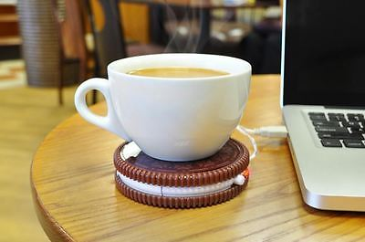 Hot Cookie USB Cup Warmer Tea and Coffee Mug Stand - Keep Your Drink Warm