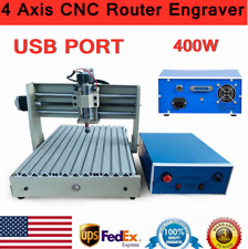 New Listingusb 400w 4 Axis 3040 Cnc Router Engraver Woodpcb 3d Engraving Milling Machine