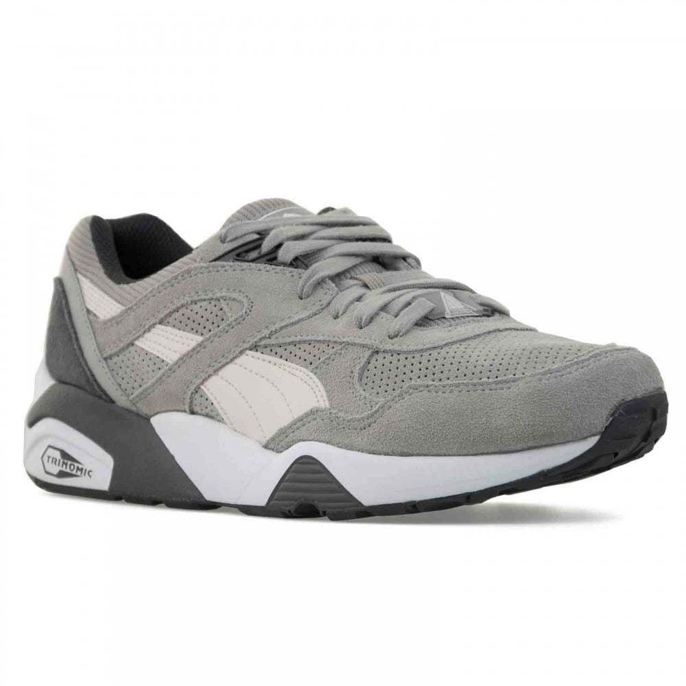 NEW PUMA Mens R698 Remaster (Drizzle/Birch/Asphalt) Trainers (Drizzle/Birch/Asphalt) Remaster 4e3449