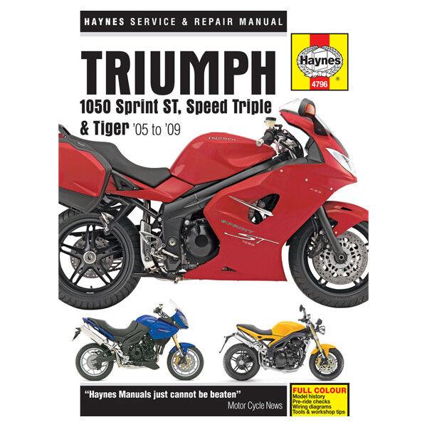 triumph sprint 1050 st abs 2010 haynes service repair manual 4796 ebay rh ebay co uk triumph sprint st 1050 haynes manual free triumph sprint st 1050 service manual