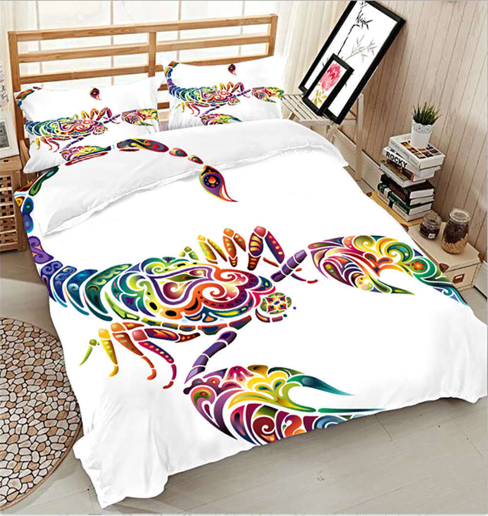 Abstract Scorpion 3D Printing Duvet Quilt Doona Covers Pillow Case Bedding Sets