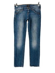 Lee LYNN Women Blue Stretch Narrow Skinny Fit Jeans W25 L31