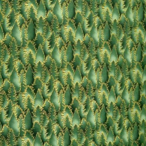 A Jason Yenter Print Trees Etched in Metallic Gold Per 1//2 Yd Cotton