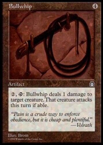 4x Bullwhip MTG Stronghold NM Magic Regular