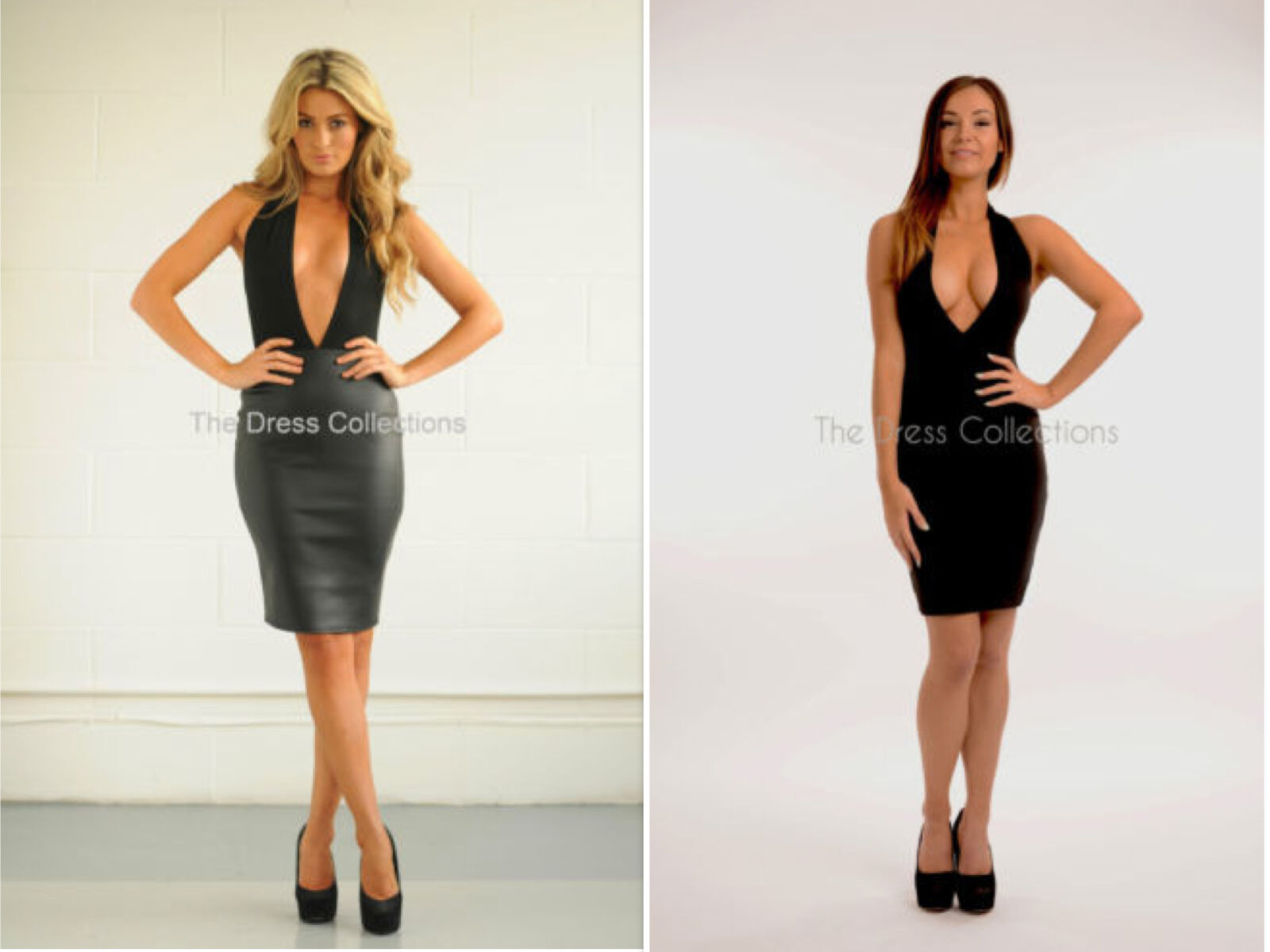4d267594ae Womens Ladies Plunge Backless Halterneck Towie Midi Glam Bodycon Dress L  Coral