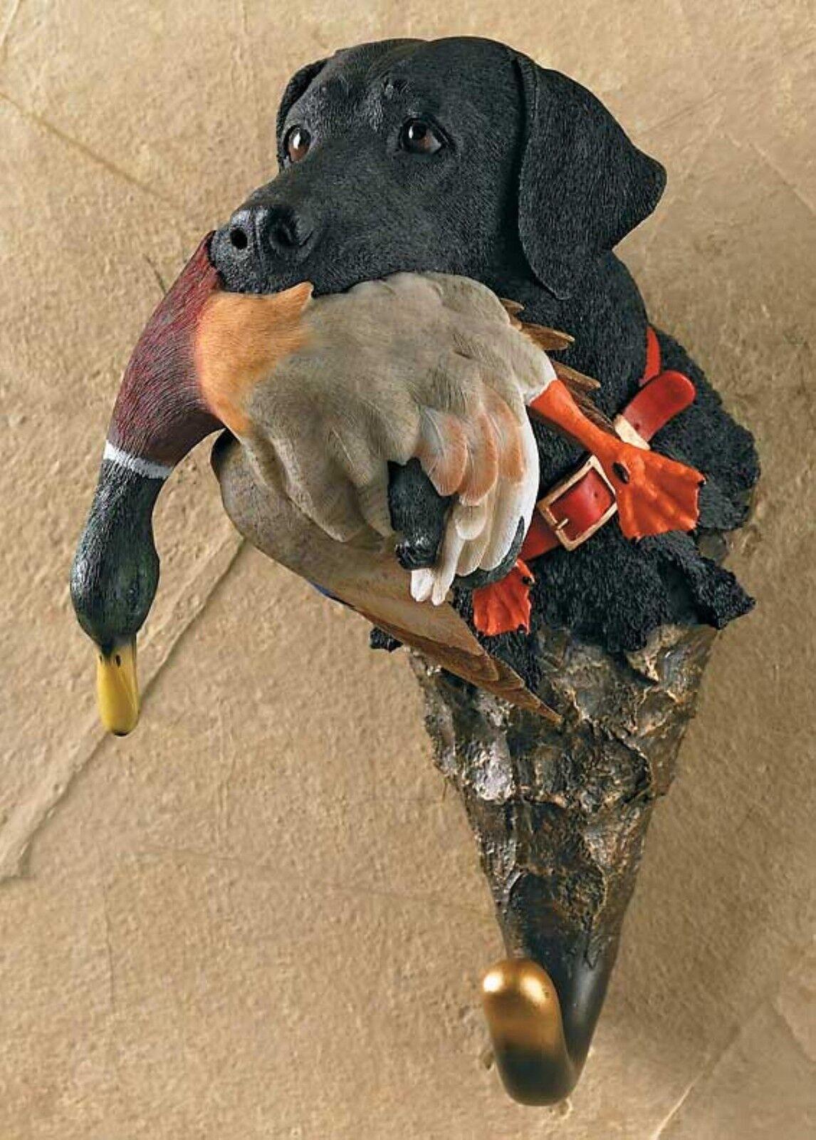 Hand painted Labrador with Mallard wall hanger