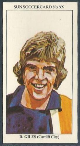 THE SUN 1979 SOCCERCARDS #609-CARDIFF CITY-DAVID GILES