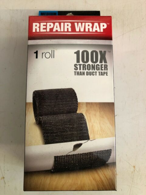 Medium FiberFix Fiber Fix Repair Wrap Roll Fiberglass Tape Seal 2in x 50 Black