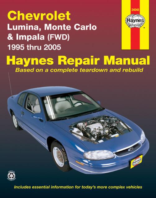 Repair Manual Haynes 24048 fits 95-05 Chevrolet Monte Carlo