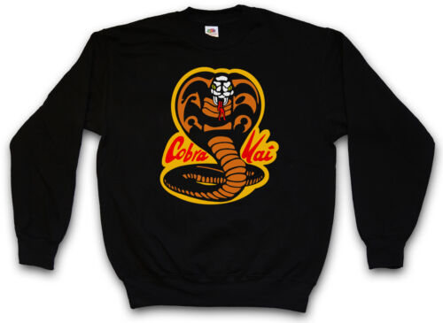 Sweatshirt Kid Karate Logo Retro Dojo Movie Cult Kai Cobra Sweater Pullover OWY0BtnS4