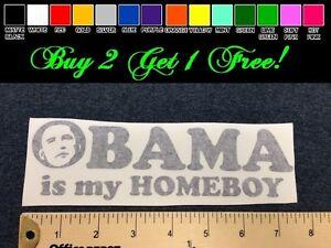 Obama Sucks vinyl decal car window bumper usa 4x4 political 2 stickers Nobama