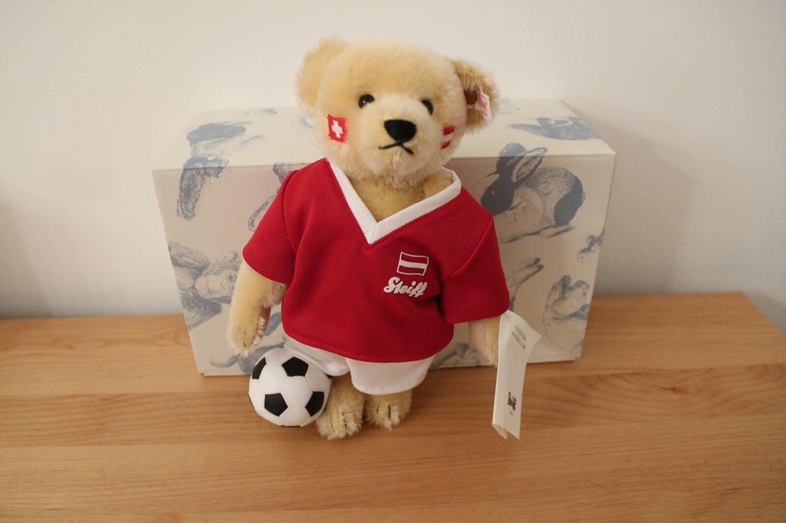STEIFF Teddybär Fussball EURO 2008 Rarität mit Musikwerk NEU
