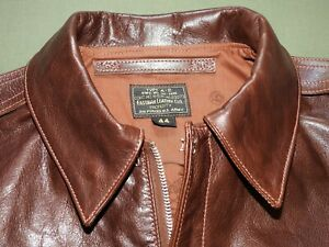 US-Army-AAF-WW2-EASTMAN-PILOT-A-2-SEAL-BROWN-HORSEHIDE-LEATHER-FLIGHT-JACKET-NWT