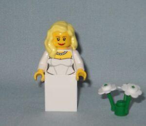 *****NEW LEGO BROWN BRUNETTE HAIR BRIDE MINIFIG MINIFIGURE*****