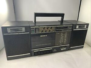 Vintage Sony CFS-3000 Transound FM/AM Cassette Recorder BOOMBOX Tested *READ*