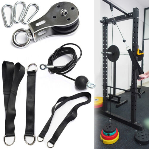 2.5M Fitness Pulley Cable Pull Down Attachment System Triceps Blaster Workout