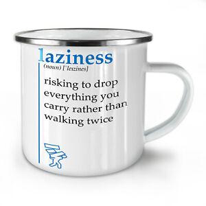 Laziness Risking NEW Enamel Tea Mug 10 oz | Wellcoda