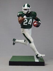 quality design 85430 6ac22 Details about LE'VEON BELL custom Mcfarlane figure MICHIGAN ST Spartans  jersey helmet STEELERS