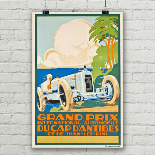 Grand Prix International Automobile Du Cap D/' Antibes Racing Poster Canvas Print