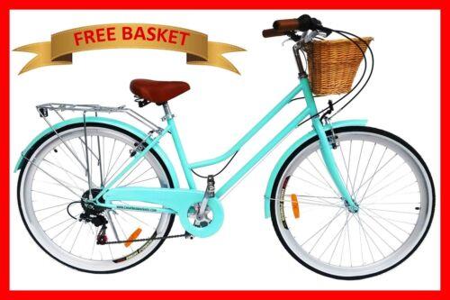 1 of 1 - BRAND NEW VINTAGE RETRO LADIES BICYCLE / BIKE 6 SPEED BEACH CRUISER MINT GREEN