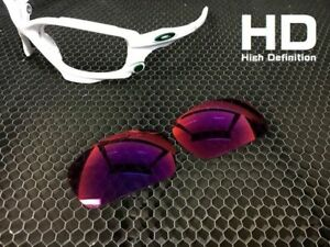 8a7ee7f243 LINEGEAR Custom Lens for Oakley New Racing Jacket -HD Red Mirror ...
