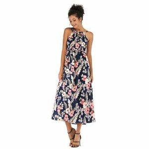 Floral-beach-party-summer-sundress-long-maxi-cocktail-evening-Women-039-s-boho-dress