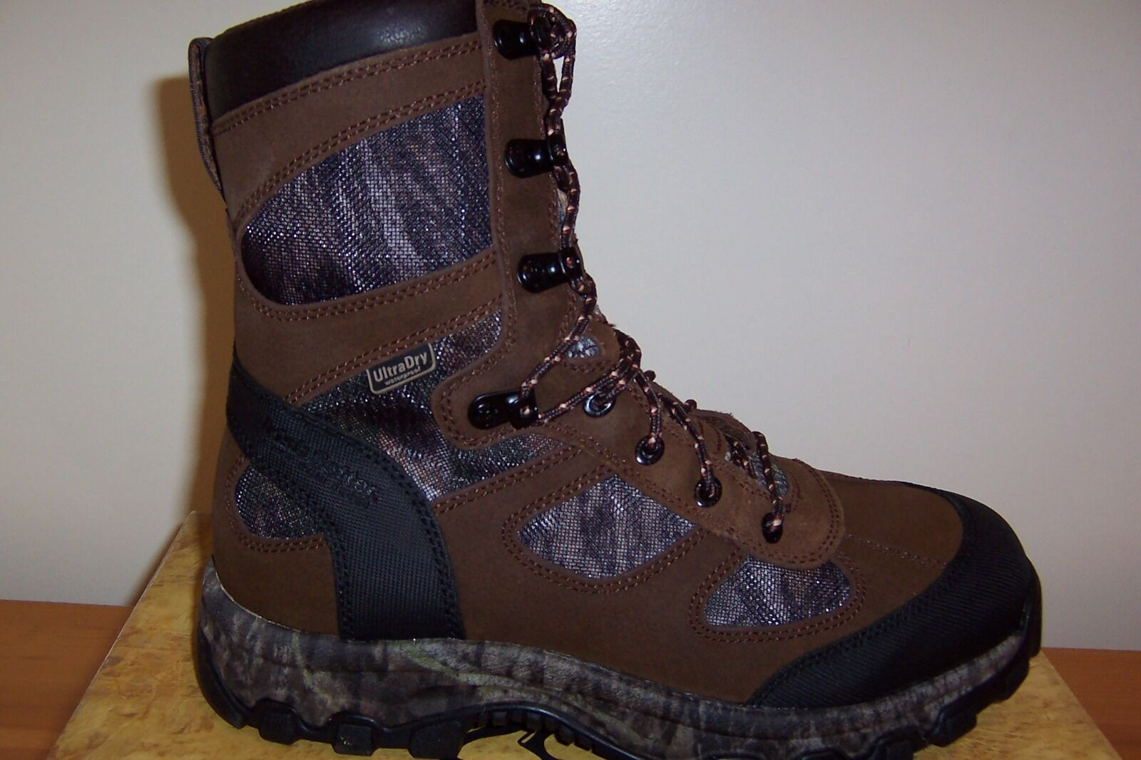 3856  Uomo  UltraDry waterproofing size 11.0 Camo. E Brown Pelle Camo. 11.0 550d4b