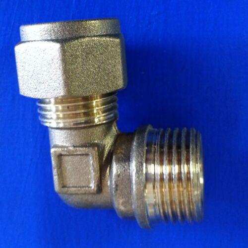 "10mm x 3//8/"" MI Compression Elbow Brass #563"