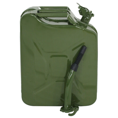8pcs 20L 5 Gallon Green Jerry Can Fuel Gasoline Backup Steel Tank  Military