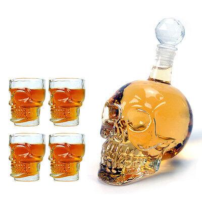 1× 350ml Crystal skulls vodka bottles + 4× skull cup Economical Combination 2013