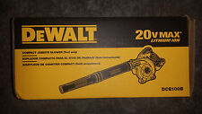 DeWALT DCE100 DCE100B 20V 20 volt Lith-Ion Cordless Compact Jobsite Blower New