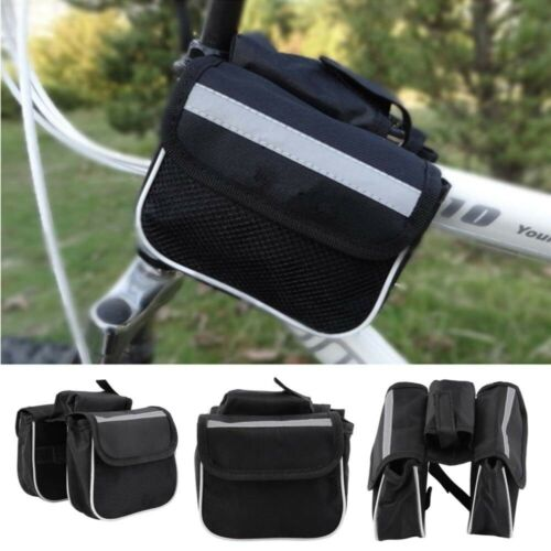Bicycle Cycling Mountain Bike Frame Front Tube Small Pannier Saddle Pouch Bag
