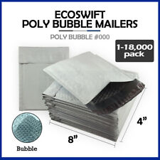 1 18000 000 4x8 Ecoswift Small Poly Bubble Mailers Padded Envelope Bags 4 X 8