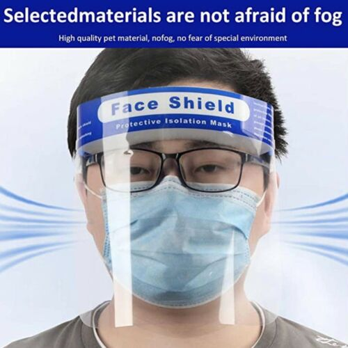 Safety Full Face Shield Clear Glasses Protector Anti-Fog Work Industry DentalUS