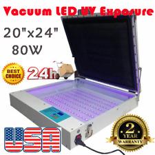 Us Stock 20 X 24 Screen Printing Vacuum Led Uv Exposure Unit Precise 110v 80w