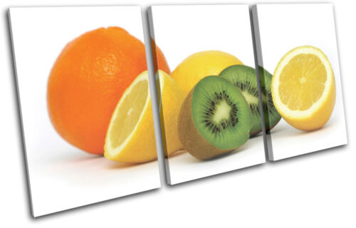 Fruits  Food Kitchen TREBLE CANVAS WALL ART Picture Print VA